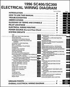 1996 Lexus Sc 300  400 Wiring Diagram Manual Original