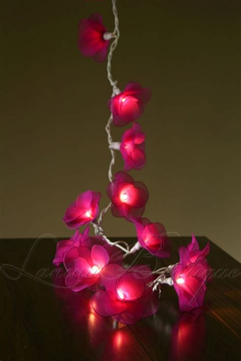 35 pink flower 6m string led