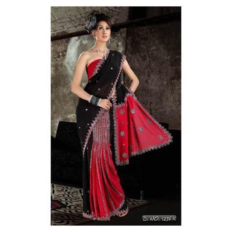 cuisine indienne acheter sari indien brodé femme couleur et noir