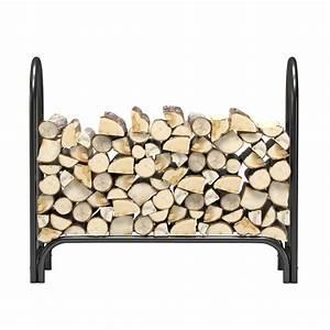 Regal, Flame, 4, Foot, Heavy, Duty, Firewood, Log, Rack, Outdoor, Firewood, Holder, In, Black