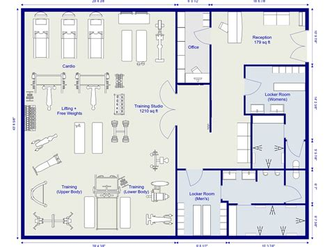 Design  Gym Easy  Gym Planner Roomsketcher