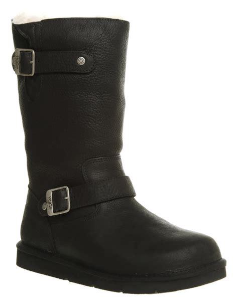 womens biker boots womens ugg australia kensington biker boot black leather