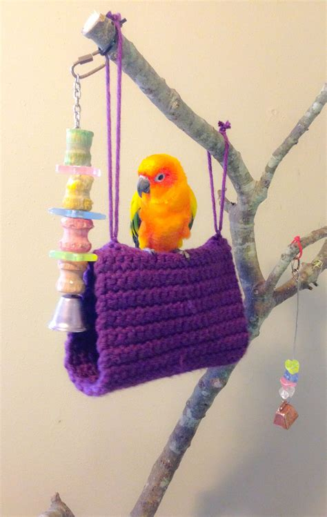 Hammock Bird by Crochet Bird Bed Bird Hammock Sun Conure Crochet
