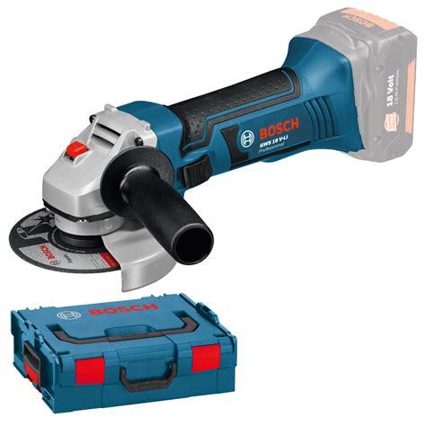 bosch gws 18 125 v li professional cordless angle grinder bosch gws 18 125 v li professional with l boxx 060193a308