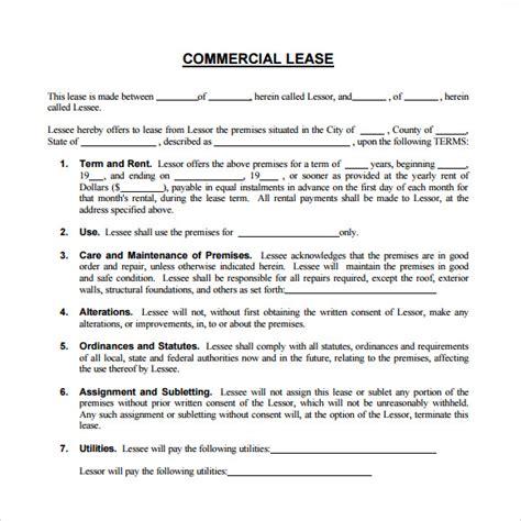modele bail commercial gratuit 8 sle commercial lease agreements sle templates