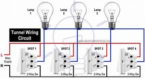 Tunnel Wiring Circuit Diagram For Light Control Using