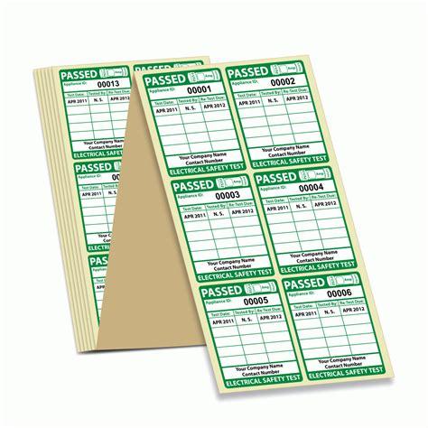 Multi Dfgarer Test by Buy Personalised Multi Date Pat Test Labels Multi Date