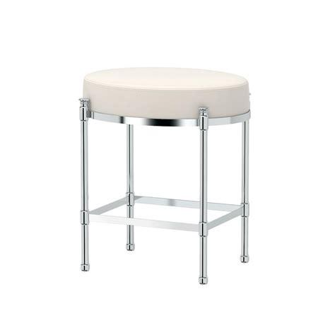 gatco oval   vanity stool  chrome   home