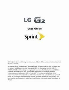 Sprint Lg G2  Lg Ls980  User Manual    Guide