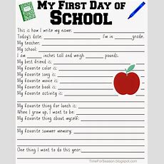 Back To School Interviews  Free Printable