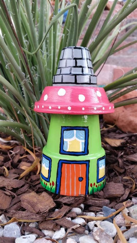 Garden Decoration Pots by Garden Gnome House Clay Pot Yard Garden Decoration