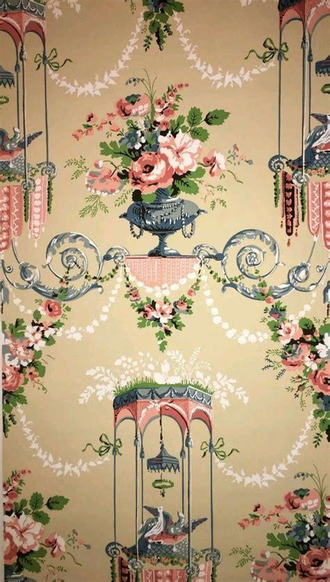french vintage wallpaper images  pinterest
