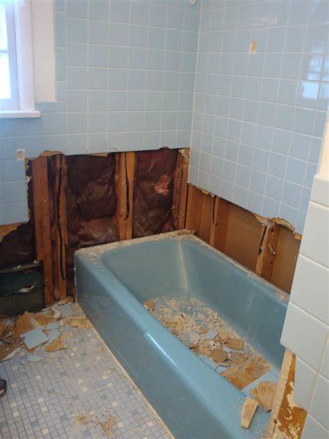 amanda  luke bathroom demolition
