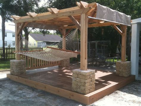 Hammock On Deck by Weekly Winner 4 Rockledge Fl Cedar Pergola Deck