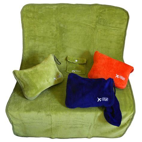 Reiseset Decke + Aufblasbares Kopf Kissen Handgepäck