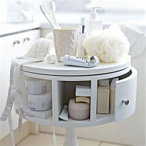 small white table design storage for small bathroom