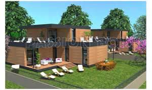 photo de maison en kit toit plat
