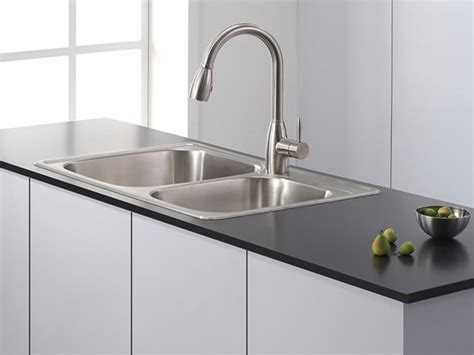 faucets for kitchen sinks 33 quot topmount bowl kitchen sink 7177