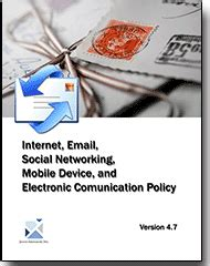 electronic communications policy template