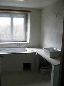 meuble de sdb en carreaux de platre With platre salle de bain