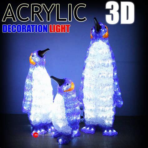 beautiful  acrylic penguin set  led outdoor christmas