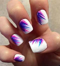 Pink purple blue nails summer design art