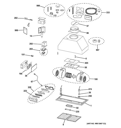 ge zvclss range hood parts sears partsdirect