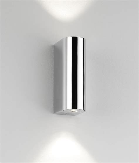 polished chrome led bathroom wall light