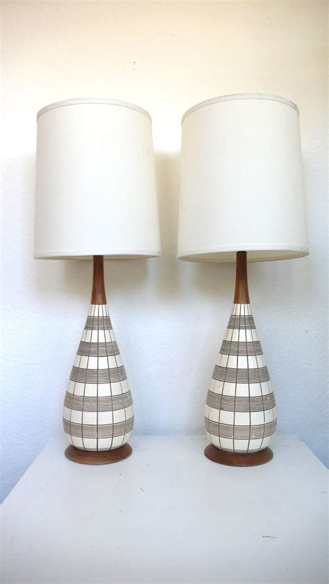 Pair Of Mid Century Modern Lamps Reserved For By Hausproud