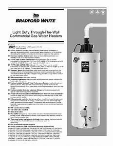 Bradford White Water Heater Wiring Diagram House Wiring  Water Furnace Installation Manual
