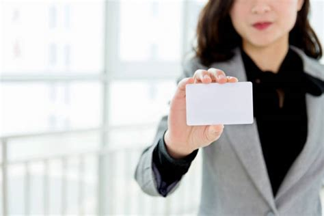 royalty  business woman showing blank id card pictures