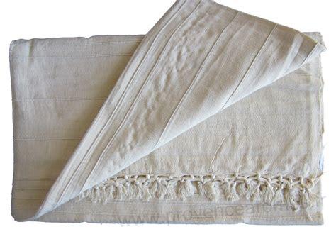 jeté de canape jeté de canapé à franges blanc