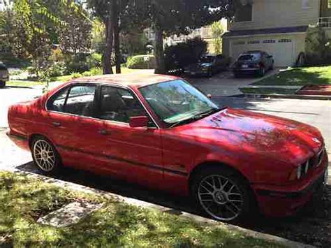 buy car manuals 1995 bmw 5 series parking system buy used 1995 bmw 540i base sedan 4 door 4 0l red v8 low mileage in north hollywood california