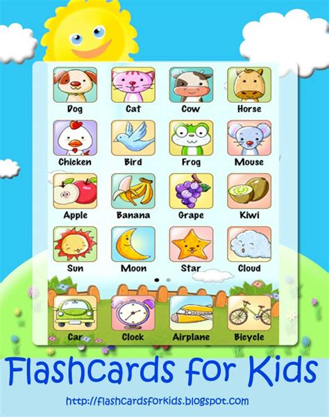 Cards For Kids Vocabulary Files For Children Animals, Public Transport, Fruit And Weather