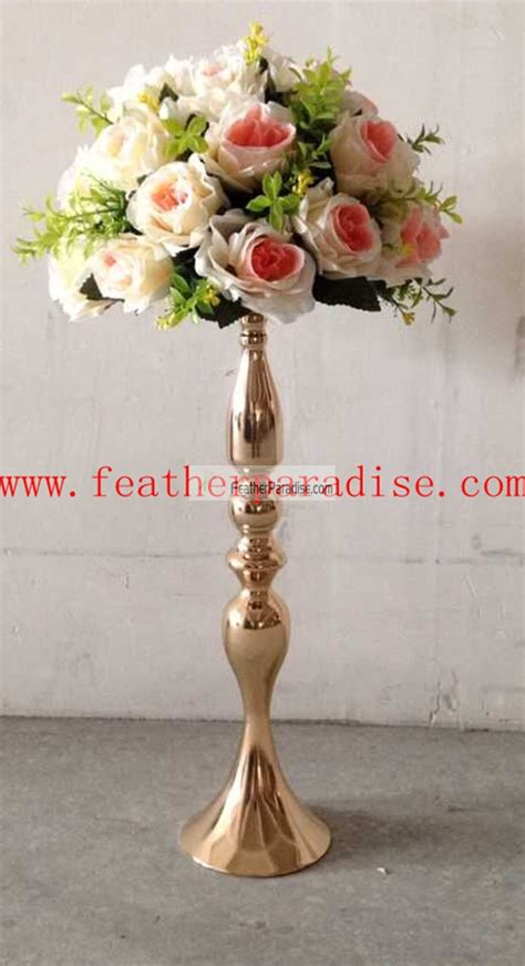 wedding feather ball centerpieces wholesale floral stand