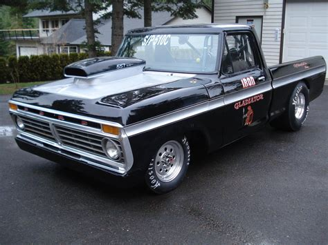 lets  pics  pro street drag truck dents ford