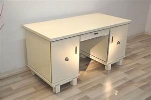 Art Deco Schreibtisch : frei stellbarer art deco schreibtisch in wei original antike m bel ~ Orissabook.com Haus und Dekorationen