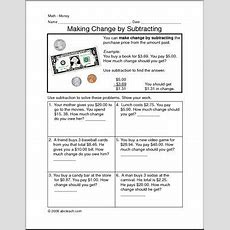 Making Change By Subtracting Clip Art Abcteach