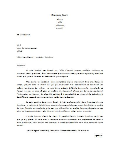 lettre de motivation secr 233 taire juridique lettre de motivation
