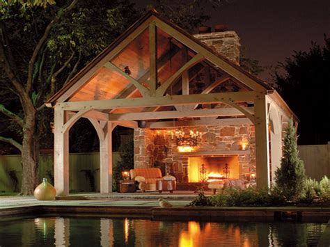 Pavilion Outdoor Fireplace The Large Scale Of And Simple