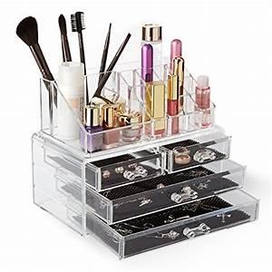 Rangement Maquillage Tiroir : spaire 4 en 1 boite de rangement rangement maquillage acrylique organisateur maquillage avec 3 ~ Teatrodelosmanantiales.com Idées de Décoration