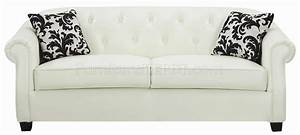 502551 off white bonded leather sofa by coaster w options With off white sofa bed