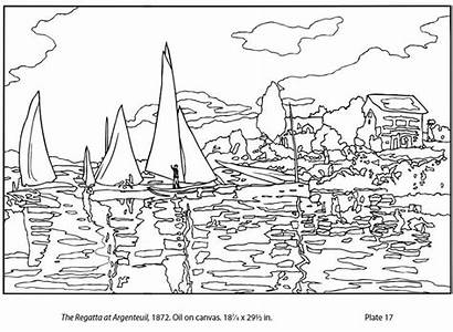 Coloring Pages Monet Claude Printable Sheets Books