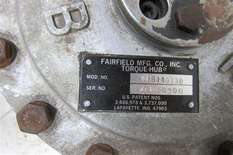 fairfield mfg wb torque hub wheel driven spline