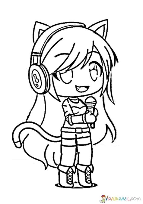 The fun in creating anime coloring pages. Gacha Life Coloring Pages. Unique Collection. Print for ...