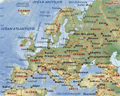 Carte Relief Europe Centrale by Carte Geographique Europe G 233 Ographie De L Europe
