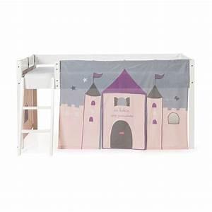 Tente Chambre Fille : tente de lit mi haut pour enfant rose et gris princesse les lits enfants les meubles pour ~ Teatrodelosmanantiales.com Idées de Décoration