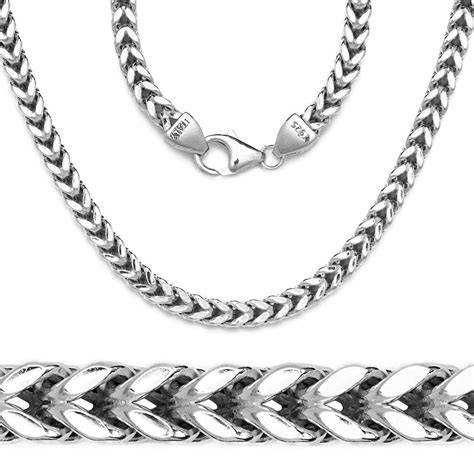 mens franco italy chain  white gold  sterling silver