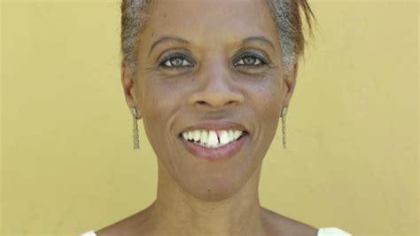 hispanic black woman portrait close   face happy