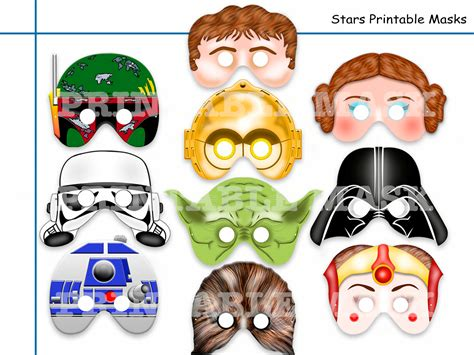 Unique Star Wars Printable Masks Party By